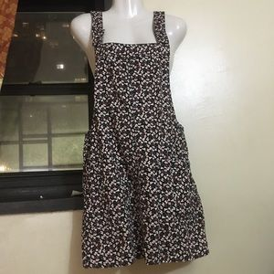 Floral Corduroy Overall Dress NWOT